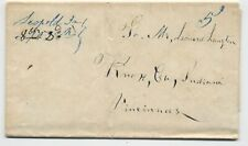 1846 Leopold Indiana manuscript stampless folded letter [5246.130]