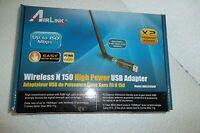 Airlink101 AWLL5166HP Wireless N 150Mbps High Power USB LAN Adapter 5dBi Antenna