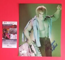 "LOU FERRIGNO SIGNED AND INSCRIBED WITH ""THE HULK"" 8""X10"" PHOTO WITH JSA COA"