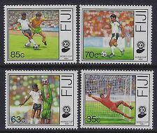 1989 FIJI FOOTBALL WORLD CUP 1990 SET OF 4 FINE MINT MNH/MUH