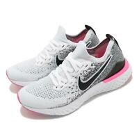 Nike Wmns Epic React Flyknit 2 White Black Pink Women Running Shoes BQ8927-103