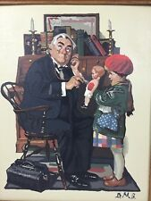 Paint By Number Pbn Norman Rockwell Doctor And The Doll Framed