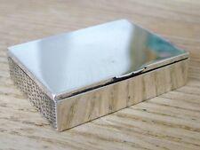 Rare dessus de table solide Anglais Argent HM1900 vesta match safe box antique NR