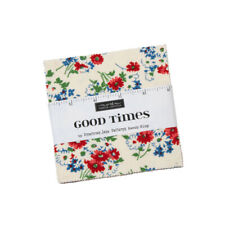 """42~5"""" SQUARES~GOOD TIMES~MODA FABRIC~CHARM PACK~AMERICAN JANE~21770PP~FLORAL"""