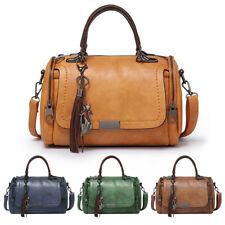 Women Tassel Large Capacity Leather Handbag Shoulder Square Satchel Totes LOT US