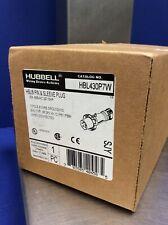 HUBBELL HBL430P7W PIN & SLEEVE PLUG 30A 480VAC 3PH 3-POLE 4-WIRE (NIB)