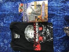 Terminator Salvation Action Toy T-600 plus Terminator T-shirt