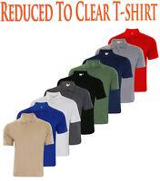 Mens T Shirts Plain Pique Polo Shirt Poly Cotton T-shirt Tops Multi-Color S-2XL