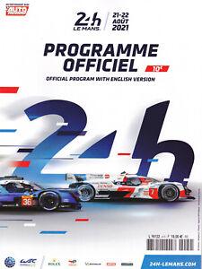 Programm 24h Le Mans 2021 WEC mit Originalbeilagen