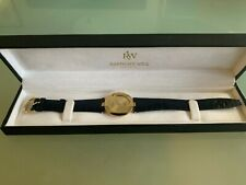 NEW W/BOX VINTAGE RAYMOND WEIL Othello 128-2 unisex 18k GOLD ELECTROPLATED