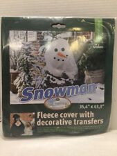 """Videx Fleece Plant Protect Cover 35""""x43"""" with Frosty SNOWMAN decorative transfer"""