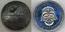 More details for 3d death star wars silver coin space old darth vader episode ix disney movie usa