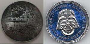 3D Death Star Wars Silver Coin Space Old Darth Vader Episode IX Disney Movie USA