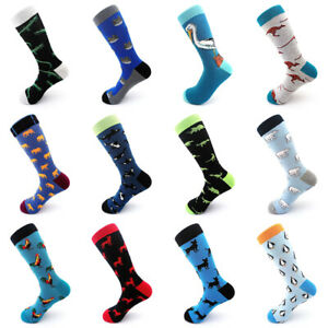 Fashion Men Socks Combed Animal Alien Breathable Funny Harajuku Socks