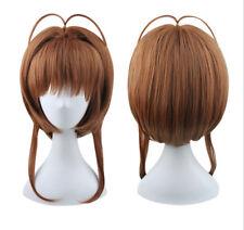 Anime Kinomoto Card Captor Sakura Sakura Cosplay Wig + Free Cap + Track No.