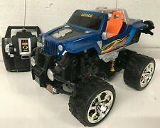 MONSTER TRUCK JEEP 360 SPIN RADIO REMOTE CONTROL CAR FAST SPEED BLUE BOXED UK