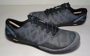 Merrell Size 9 M VAPOR GLOVE 3 Black Silver Sneakers New Women's Shoes