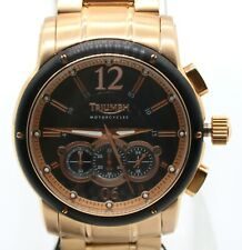 Triumph Motorcycles Men's Chronograph Rose Gold Stainless Steel Watch 3048-44