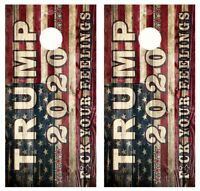 Get In The Hole Rate Your Toss Barnwood Cornhole Board Wraps #2850
