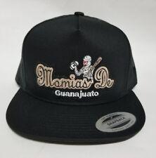 MOMIAS DE GUANAJUATO   HAT BLACK MESH TRUCKER  SNAP BACK FLAT BUILD  NEW