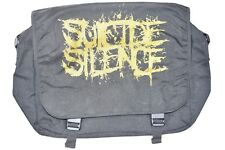 SUICIDE SILENCE GOLD LOGO MESSENGER BAG NEW OFFICIAL CLEANSING BLACK CROWN