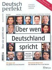 Deutsch perfekt, Heft Mai 05/2016: Über wen Deutschland spricht +++ wie neu +++