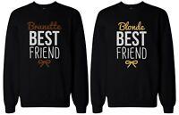 Cute Brunette and Blonde Best Friend Matching Sweatshirts
