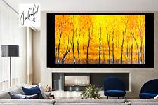Art oil Painting original Landscape  forest Tree woods canvas 180cm