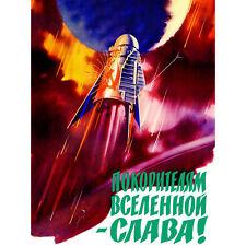 Propaganda Political Soviet Space Program Soyuz Vostok USSR Canvas Print