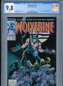 1988 MARVEL WOLVERINE #1 1ST APPEARANCE AS PATCH CGC 9.8 WHITE BOX1