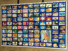 1995 Australia Dynamic REN & STIMPY Trading Card Uncut Sheet (110 card)--BEAUTY!