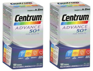 2 x Centrum Advance 50+ Multivitamin for Adults 200 Tablets 50% OFF SALE