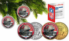 TAMPA BAY BUCANEERS Christmas Tree Ornaments JFK Half Dollar US 2-Coin Set NFL