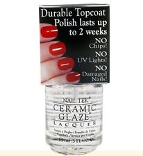 Nail Tek Ceramic Glaze Protective Durable No Chip Top Coat LAST 2 WEEKS MANICURE
