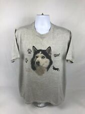 VTG 90's Siberian Husky Dog Breed Short Sleeve T-Shirt Size XL