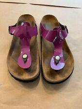 Betula Birkenstock Gizeh Purple Patent Thong Sandals Slides Women's EU 39/L8