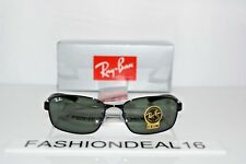 a4312bcca4 New Ray-Ban Authentic Black Green G-15 RB3413 002 59mm Sunglasses