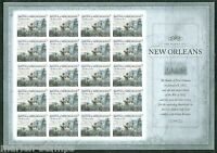 UNITED STATES 2015 WAR OF 1812  NEW ORLEANS IMPERFORATE  SHEET OF 20  MINT