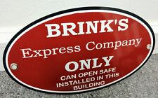 Brink's Brinks safe armored home security company sign