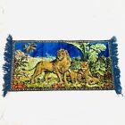 Vintage Lion Tapestry Lioness Cubs 19.5W 38.5L