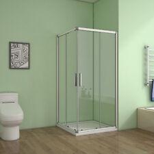 80x80x185cm Duschabtrennung Eckeinstieg Schiebetür Duschkabine Duschtür Dusche