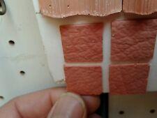 38 piastrelle 20x20mm  terracotta minuterie presepe miniature  nativity crib