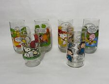 Lot of Snoopy Peanuts Drinking Glasses Cups - McDonald's Camp Snoopy and Other