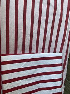 Lauren Ralph Lauren White/Red Striped King Flat Sheet + Standard Pillowcase A3A