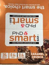 PHD SMART caramel crunch barrette proteiche, 12 x 64g BAR. EXP 03/22. GRATIS P&P