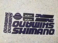 SHIMANO vinyl decals bike stickers frame replacement set Purple