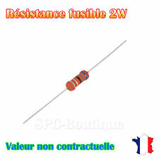 10x Resistance Fusibles Metal 330 Ohms 2 Watts