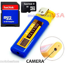 16GB BLUE Mini DV Lighter Hidden Spy Cam Camera Nanny DVR USB Video Recorder USA