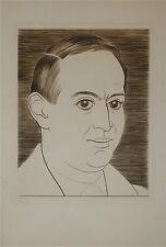 Louis Marcoussis gravure Georges Poupet 1936 Varsovie Cracovie Paris P1338
