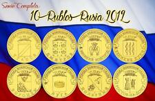 RUSSIA 10 Rublos 2012 Towns of Martial Glory - COMPLET SERIE RUBLES